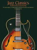 Jazz Classics for Solo Guitar  Songbook