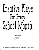 Creative Plays For Every School Month Book PDF