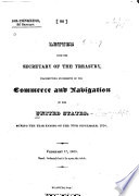 Report of the Secretary of the Treasury, of the Commerce and Navigation of the United States, for the Year Ending ...