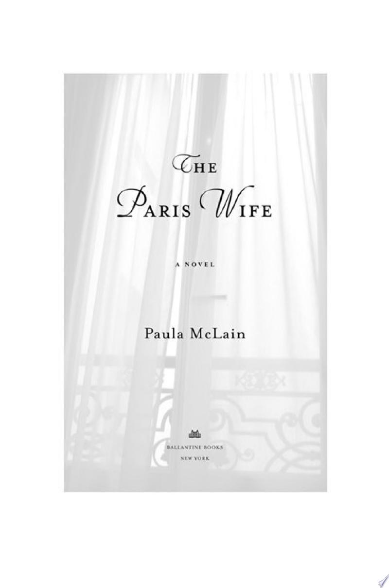 The Paris Wife banner backdrop