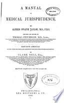 A Manual of Medical Jurisprudence Book