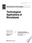 Technological Applications of Biocatalysts