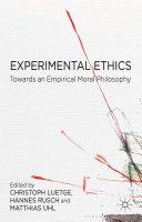 Pdf Experimental Ethics Telecharger