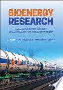 Bioenergy Research Book