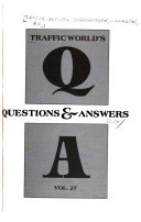 Traffic World S Questions Answers