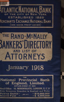 The Rand McNally Bankers  Directory and List of Attorneys