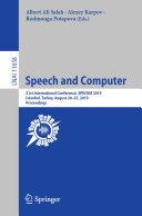 Pdf Speech and Computer