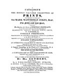 Pdf The Fifth and Last Part: Containing The Residue of a Series of British Portraits, ... Foreign Portraits, ... English Topography ... : Which, By Order Of The Executors, Will Be Sold By Auction, By Mr. Sotheby ... On Monday, the 6th Day of December, 1824 ...