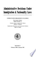 Administrative Decisions Under Immigration Nationality Laws