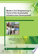 Modern Civil Engineering in Trend of the Sustainable Infrastructure Development Book
