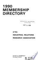 Membership Directory of the Industrial Relations Research Association