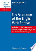 The Grammar of the English Tense System Book