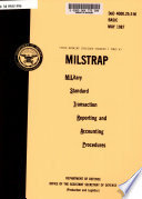 Military Standard Transaction Reporting and Accounting Procedures, Change No. 4, April 15, 1996