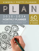 2020 2024 5 Year Monthly Planner