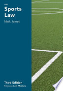 """Sports Law"" by Mark James"