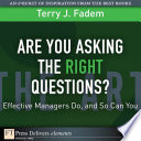 Are You Asking the Right Questions  Book