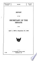 Report of the Secretary of the Senate from April 1, 1998, to September 30, 1998
