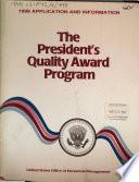 The President s Quality Award Program     Application