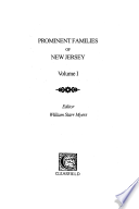 """Prominent Families of New Jersey"" by William Starr Myers"