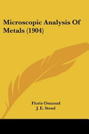 Microscopic Analysis of Metals  1904