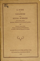 A Guide To Vocations In The Social Sciences