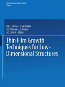 Thin Film Growth Techniques for Low Dimensional Structures