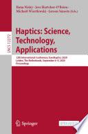 Haptics  Science  Technology  Applications