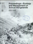 Proceedings  ecology and Management of Annual Rangelands