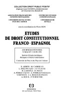 Études de droit constitutionnel franco-espagnol