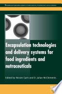 Encapsulation Technologies And Delivery Systems For Food Ingredients And Nutraceuticals Book PDF