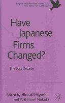 Have Japanese Firms Changed