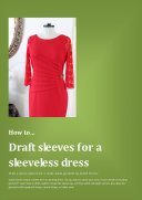 How to draft sleeves for a sleeveless dress