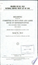 Hearing on H.R. 2010, National Service Trust Act of 1993