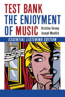Test Bank for the Enjoyment of Music Book PDF