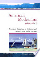 American Modernism 1910 1945