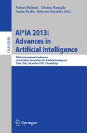 AI*IA 2013: Advances in Artificial Intelligence