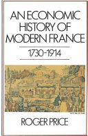 An Economic History Of Modern France 1730 1914 Book
