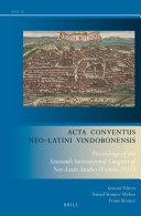 Acta Conventus Neo-Latini Vindobonensis
