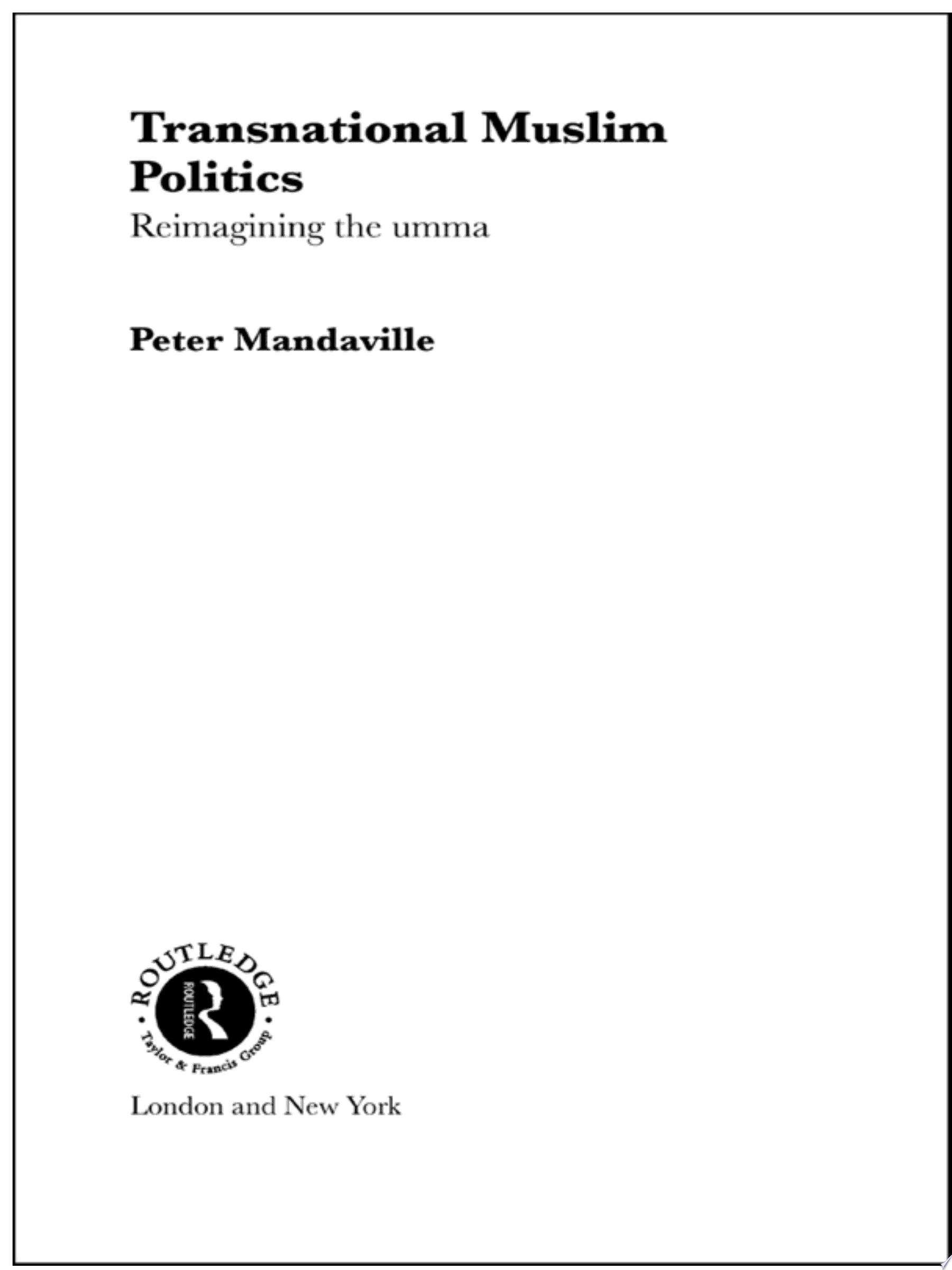 Transnational Muslim Politics
