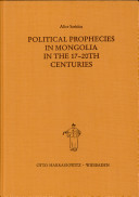 Political Prophecies in Mongolia in the 17 20th Centuries