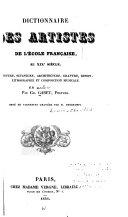 Dictionnaire des artistes de l'école française, au XIXe siècle