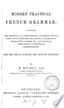 Modern practical French grammar