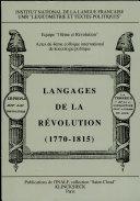 Langages de la Révolution (1770-1815)