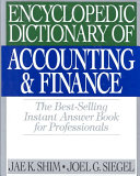 Encyclopedic Dictionary of Accounting and Finance