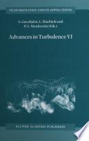 Advances in Turbulence VI Book