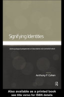 Signifying Identities Book