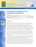 Safe Application of Reclaimed Water Reuse in the Southwestern United States