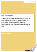Theoretical model and SWOT-analysis of a blockchain-based B2B marketplace to exchange non-refundable lodging reservations and thus minimize financial risk