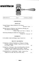 Journal Of Urban Law