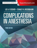 Complications in Anesthesia Book